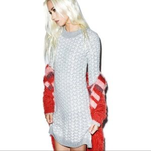 NWT For Love & Lemons Big Sur Sweater Dress